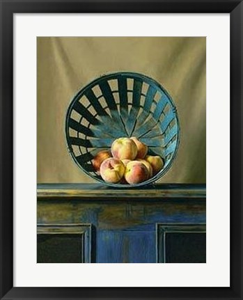 Framed White Peaches Print