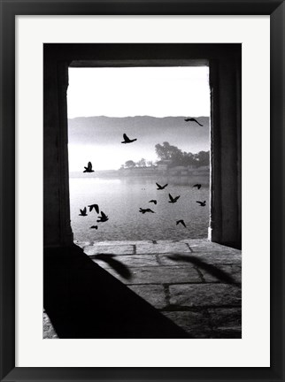 Framed Lake of Pushkar Print