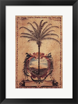 Framed Sunset Palm Print