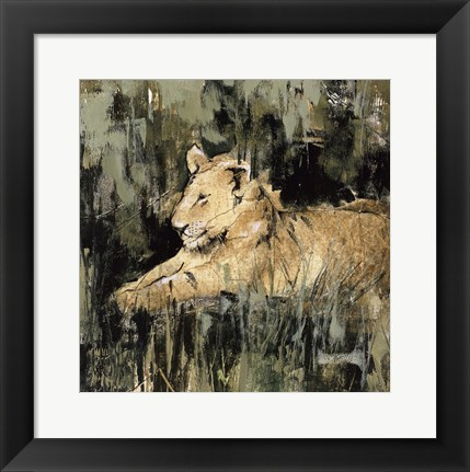 Framed Heart of the Jungle IV Print