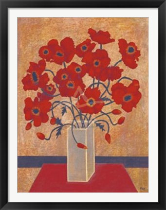 Framed Scarlet Poppies Print