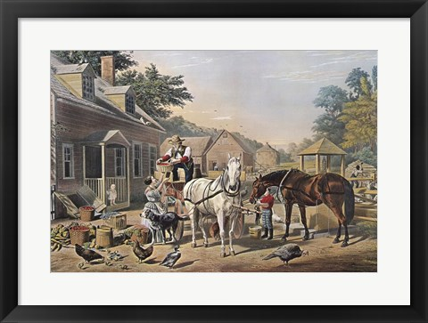 Framed Market Preparations Print