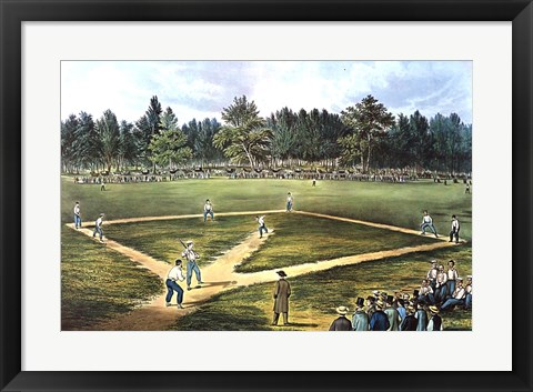 Framed National Game of Baseball Print
