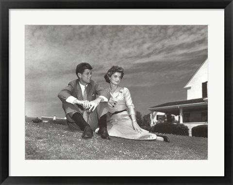 Framed Jack and Jackie, 1953 Print