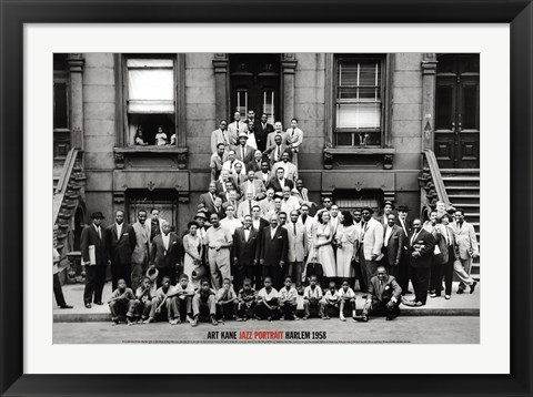 Framed Jazz Portrait - Harlem, 1958 Print