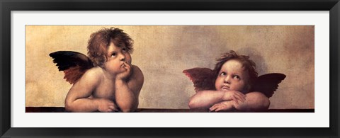Framed Cherubim Putti Angels of The Sistine Madonna, c.1514 Print