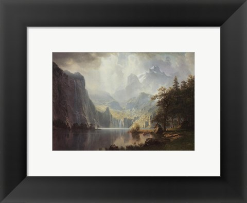 Framed In the Mountains Print