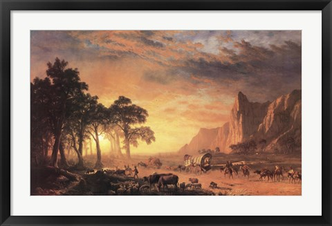 Framed Oregon Trail, The Print