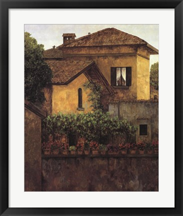 Framed Golden Villa Print