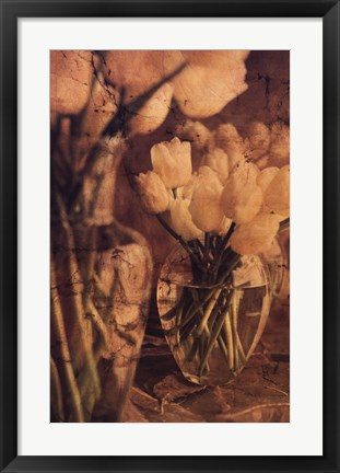 Framed Antique Tulips I Print