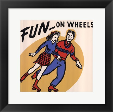 Framed Fun...On Wheels Print