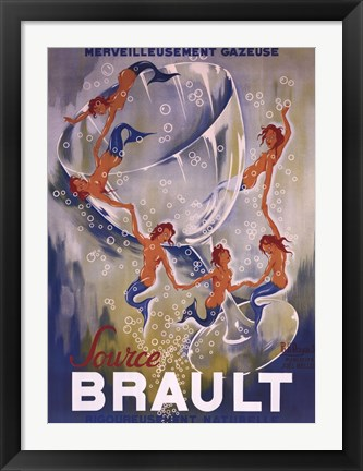 Framed Source Brault, 1938 Print