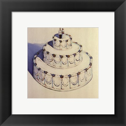 Framed Wedding Cake 1962 Print