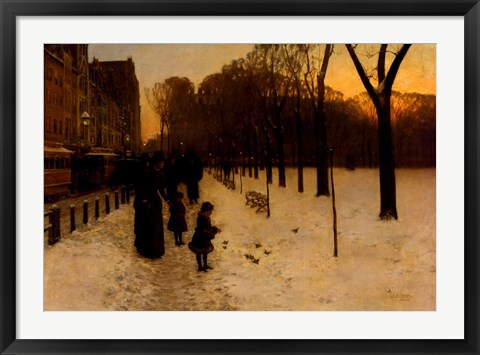 Framed Boston Common at Twilight, 1885-86 Print