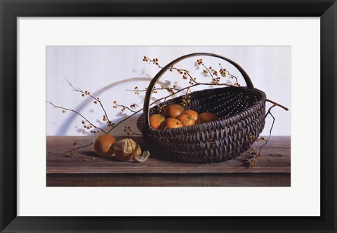 Framed Oranges Print