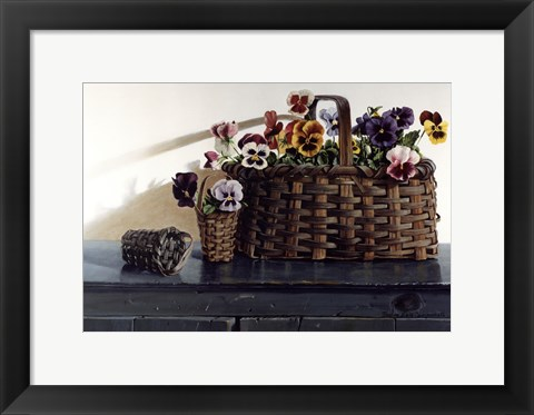 Framed May Baskets Print