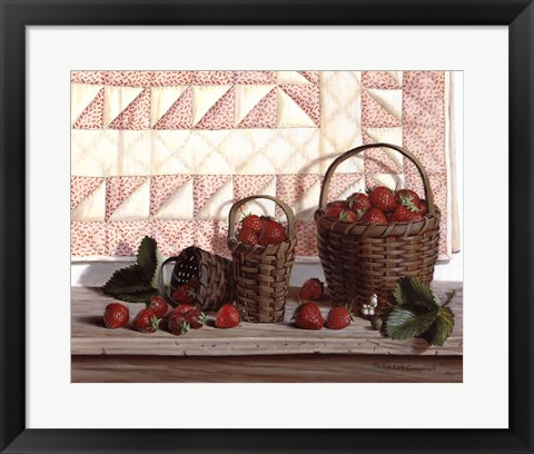 Framed Strawberry Time Print