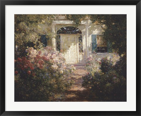 Framed Doorway and Garden Print