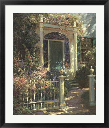 Framed Portsmouth Doorway Print
