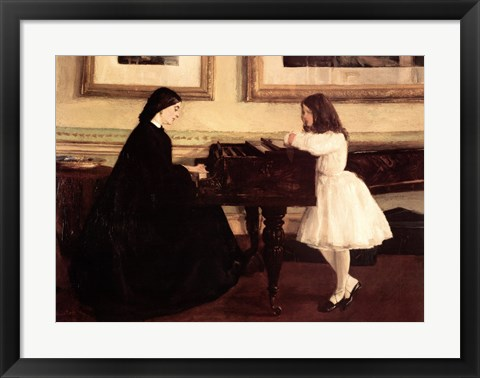 Framed At the Piano Print