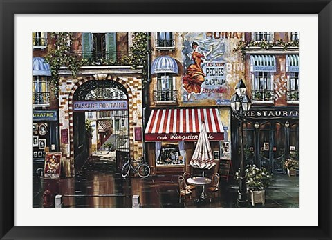 Framed Passage Fontaine Print