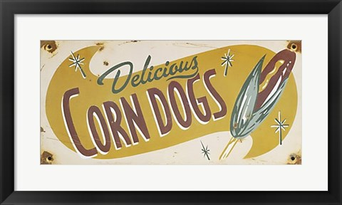 Framed Corn Dogs Print
