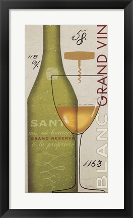 Framed Grand Vin Blanc Print