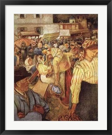 Framed Village Market Print