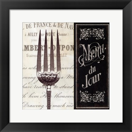 Framed French Menu II Print