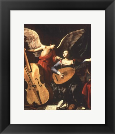 Framed St. Cecilia and the Angel Print