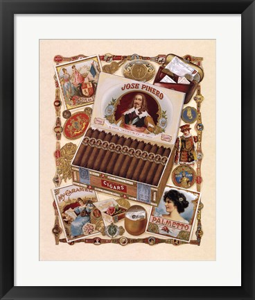 Framed Jose Pinero Cigars Print