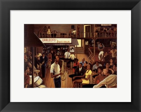 Framed Jazz from the Cellar Print