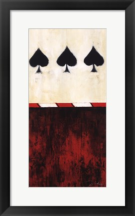 Framed Three of Spades Print