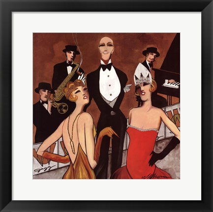 Framed Dames du la Soiree Print