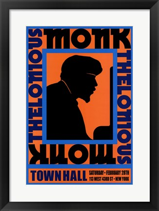 Framed Thelonious Monk, 1959 Print