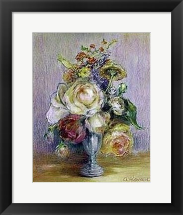 Framed Rose Panache Print