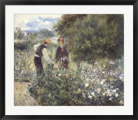 Framed Picking Flowers Print