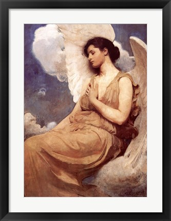 Framed Winged Figure Print