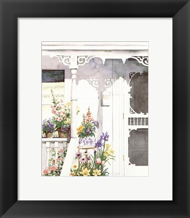 Framed Victorian Porch Print