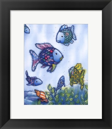 Framed Rainbow Fish VI Print