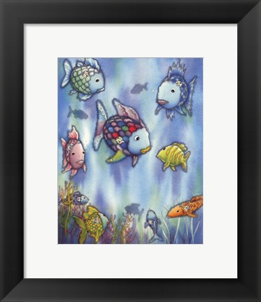 Framed Rainbow Fish III Print