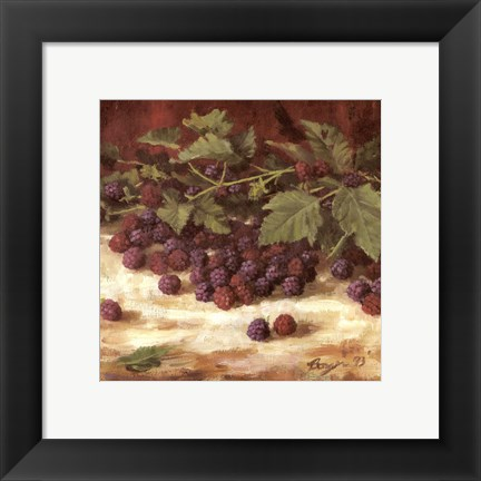 Framed Blackberries Print