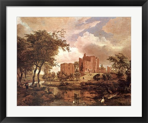 Framed Ruins of Brederode Castle Print