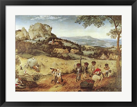 Framed Haymaking Print
