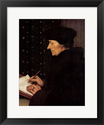 Framed Portrait of Erasmus Print