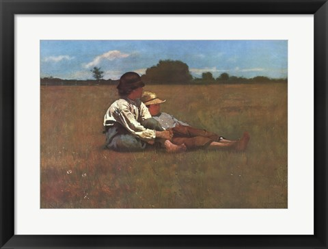 Framed Boys in a Pasture Print