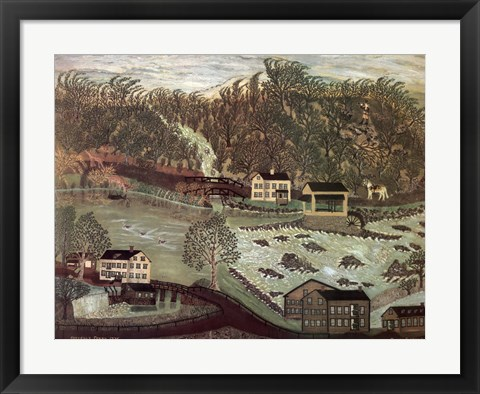 Framed Coryell's Ferry 1776 Print