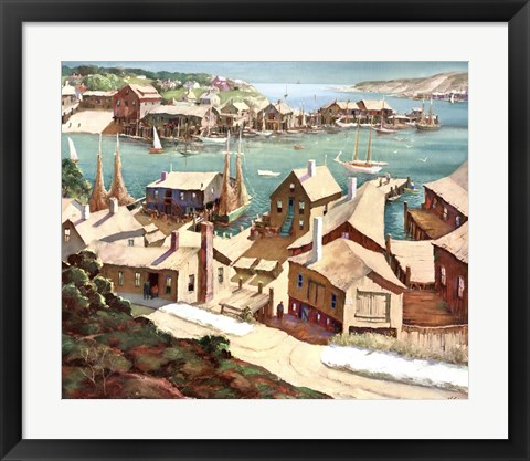Framed Peaceful Harbor Print