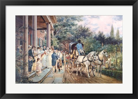 Framed Wedding in the 1830'S Print