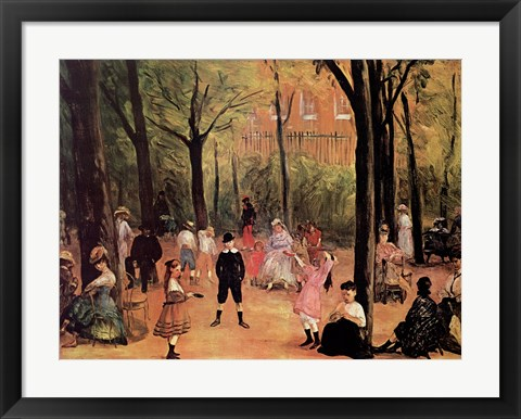Framed Luxembourg Gardens Print